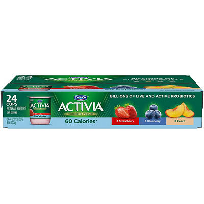 Dannon Activia Light Nonfat Strawberry, Blueberry & Peach Yogurt Varie