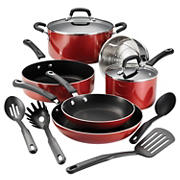 Tramontina 12-Pc. Porcelain Enamel Cookware Set - Red