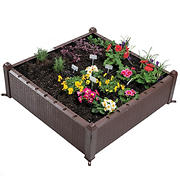 "Osgrow Easy-To-Assemble 39"" Square Wicker Raised Garden Bed"