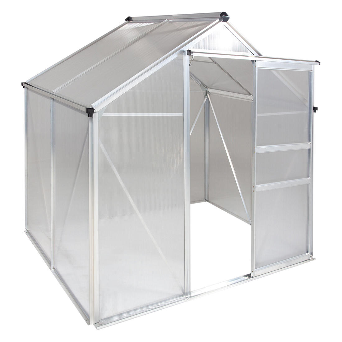 Osgrow 4 X 6 Walk In Greenhouse With Sliding Door Adjustable Roof Vent And Heavy Duty Aluminum Frame Bjs Wholesale Club