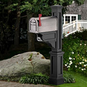 Mayne Dover Mailbox Post - Black