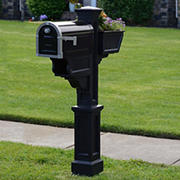 Mayne Signature Plus Mailbox Post - Black