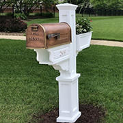 Mayne Signature Plus Mailbox Post - White