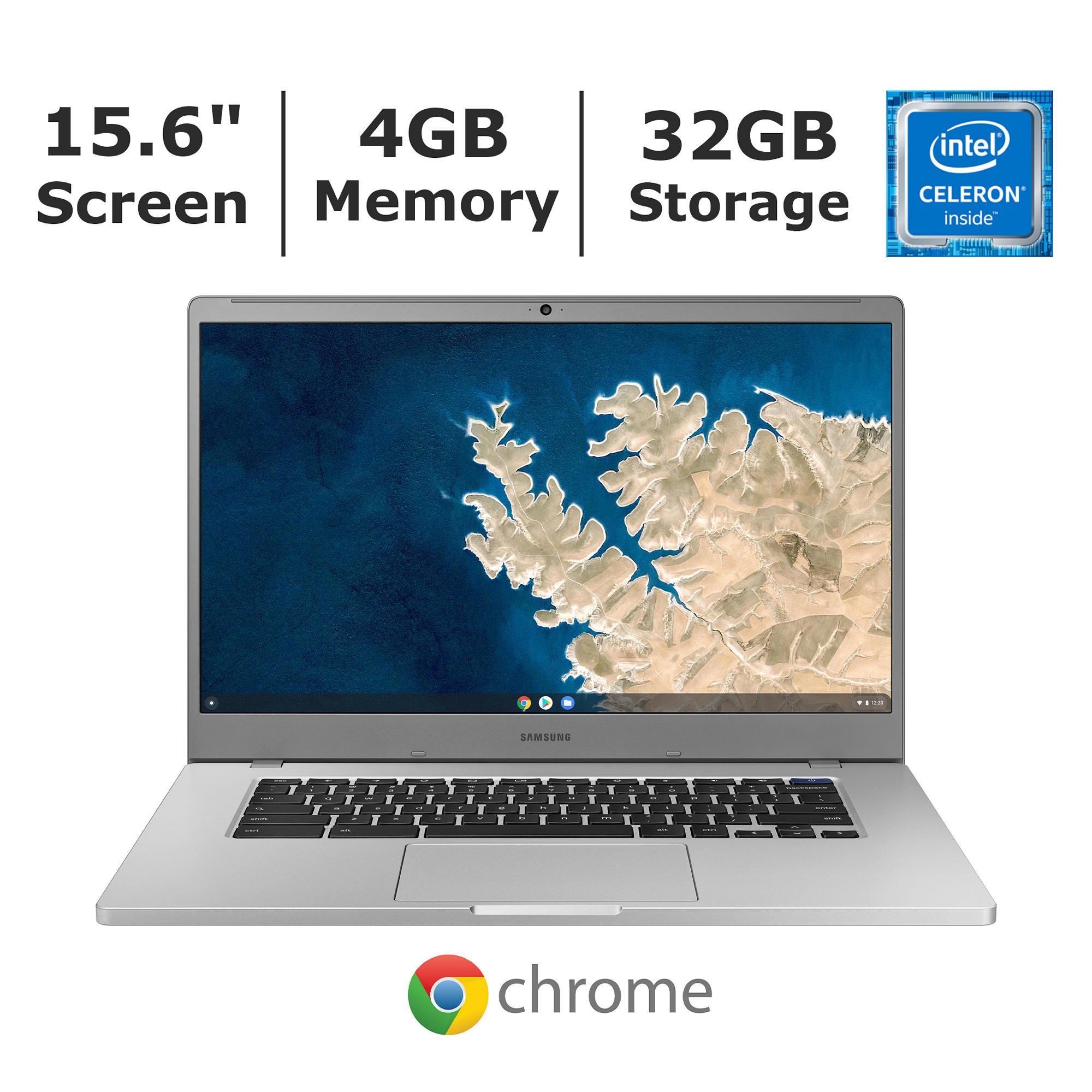 Samsung Chromebook 4+ Laptop, Intel Celeron N4000 Processor, 4GB Memory, 32GB SSD