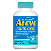 Aleve Pain Reliever Liquid Gels, 160 ct.