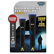 Police Security 700-Lumen and 1,600-Lumen Flashlights Combo, 2 pk.