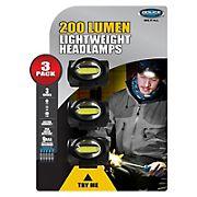 Police Security 200-Lumen Connector Headlamps, 3 pk.
