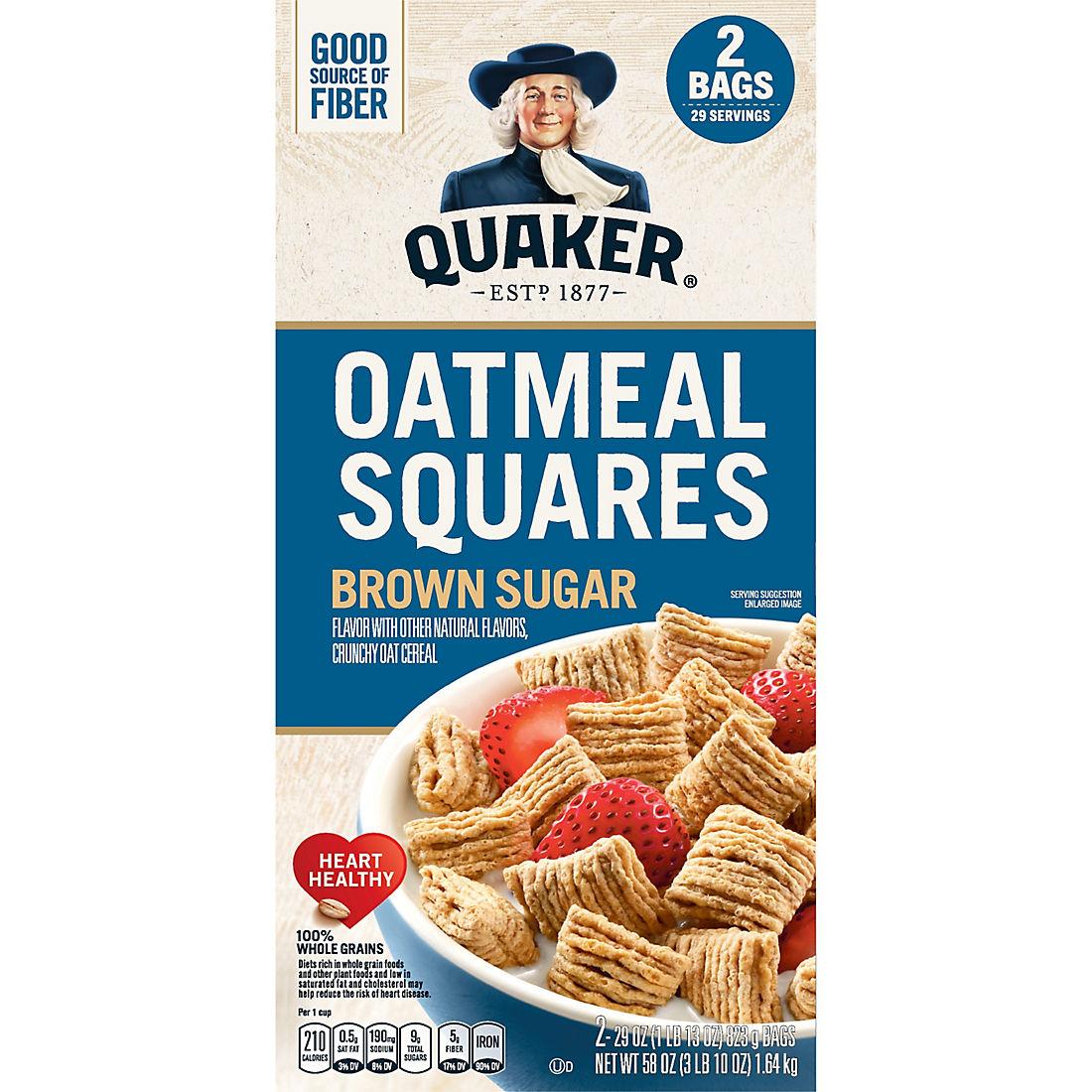 Quaker Oatmeal Squares, 2 pk./29 oz