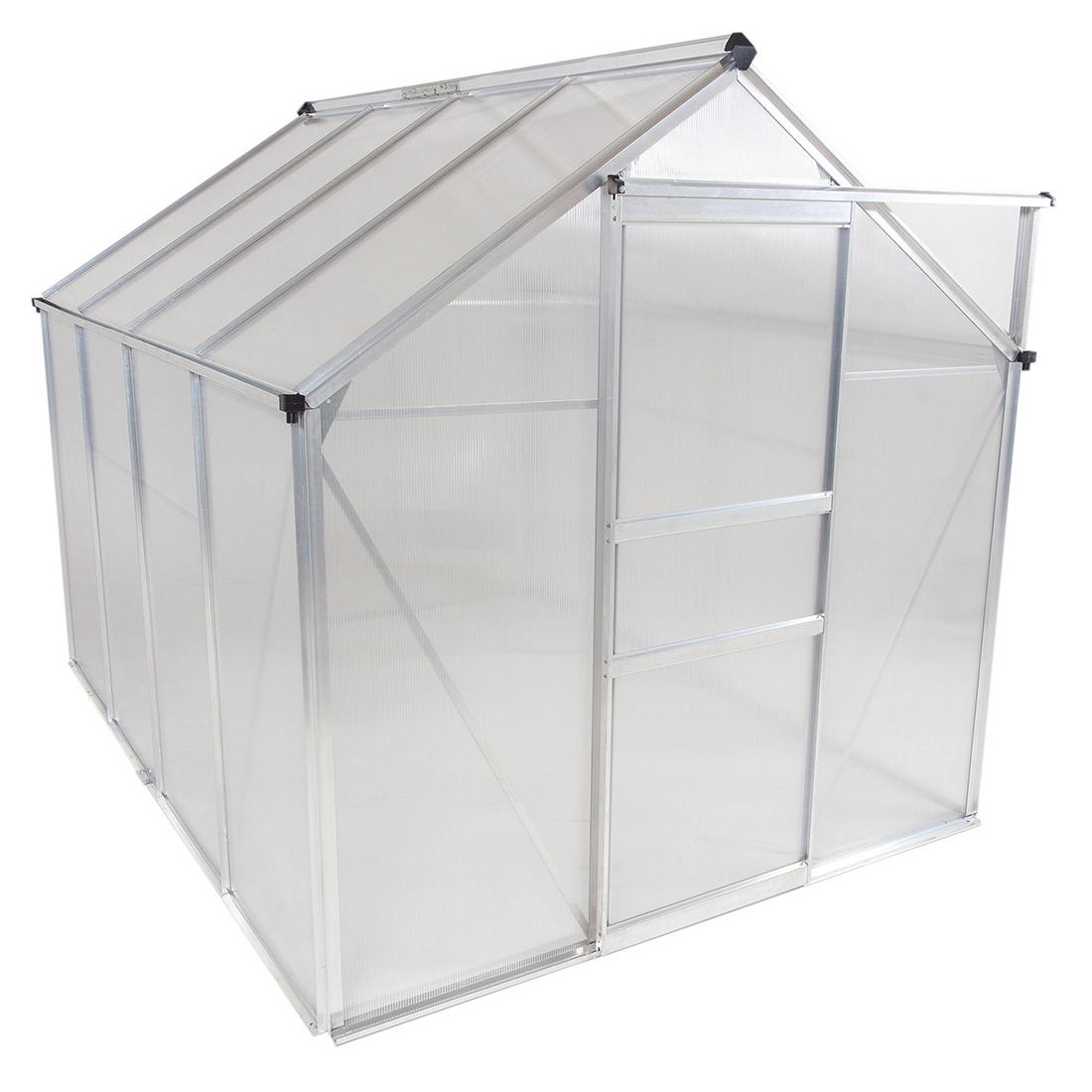 Osgrow 6 X 8 Walk In Greenhouse With Sliding Door Adjustable Roof Vent And Heavy Duty Aluminum Frame Bjs Wholesale Club