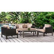 Abbyson Living Monroe 4-Pc. Patio Seating Set - Beige