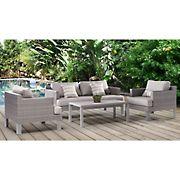 Abbyson Living Monroe 4 Pc. Patio Seating Set - Gray