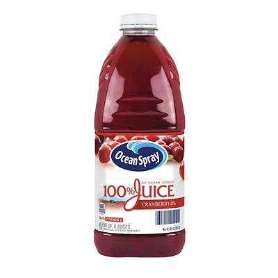 Ocean Spray 100% Cranberry Juice, 2 pk./96 oz.