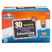 Elmer's Disappearing Purple School Glue Sticks, 30 ct.