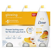 Dove Mango and Almond Butter Body Wash, 3 ct.