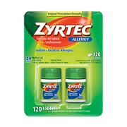 Zyrtec 24 Hour Allergy Relief Tablets, 120 ct.