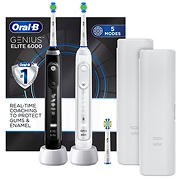 Oral-B Genius Elite 6000 Rechargeable Toothbrush, 2 pk.
