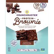 Crunchmaster Homestyle Chocolate Protein Brownie Thins, 8.5 oz.