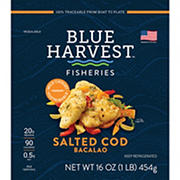 Blue Harvest Salted Cod Bacalao, 1 lb.