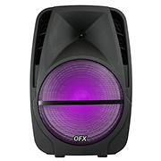 "QFX 15"" Rechargeable Portable Party Speaker with Microphone"