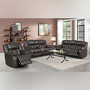Kian Motion Auburn 3-Pc. Living Room Set Set with White Glove Delivery