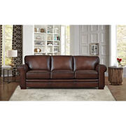 Hydeline Furniture Brookfield Collection Leather Sofa - Brown