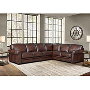 Hydline Furniture Brookfield Collection Leather Sectional, 4 pieces