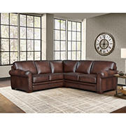 Hydline Furniture Brookfield Collection Leather Sectional, 3 pieces