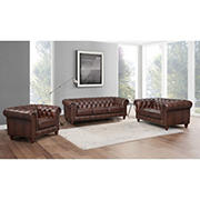 Hydeline Furniture Alton Bay Collection 3-Pc. Leather Living Room Set