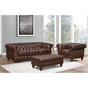 Hydeline Furniture Alton Bay Collection 3-Pc Leather Living Room Set