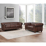 Hydeline Furniture Alton Bay Collection 2-Pc. Leather Sofa and Love Seat Living Room Set