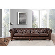 Hydeline Furniture Alton Bay Collection Leather Sectional, 2 pieces