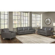 Hydeline Furniture Concord Collection 3-Pc. Leather Living Room Set