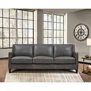 Hydeline Furniture Concord Collection Leather Sofa - Gray