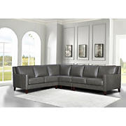 Hydeline Furniture Concord Collection Leather Sectional, 4 pieces