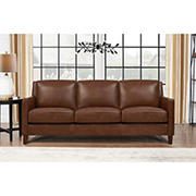 Hydeline Furniture Concord Collection Leather Sofa - Brown