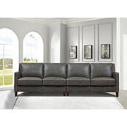 Hydeline Furniture Concord Collection Leather Sectional, 2 pieces - Gray