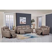 Hydeline Furniture Crescent Bay Collection 3-Pc. Leather Reclining Living Room Set