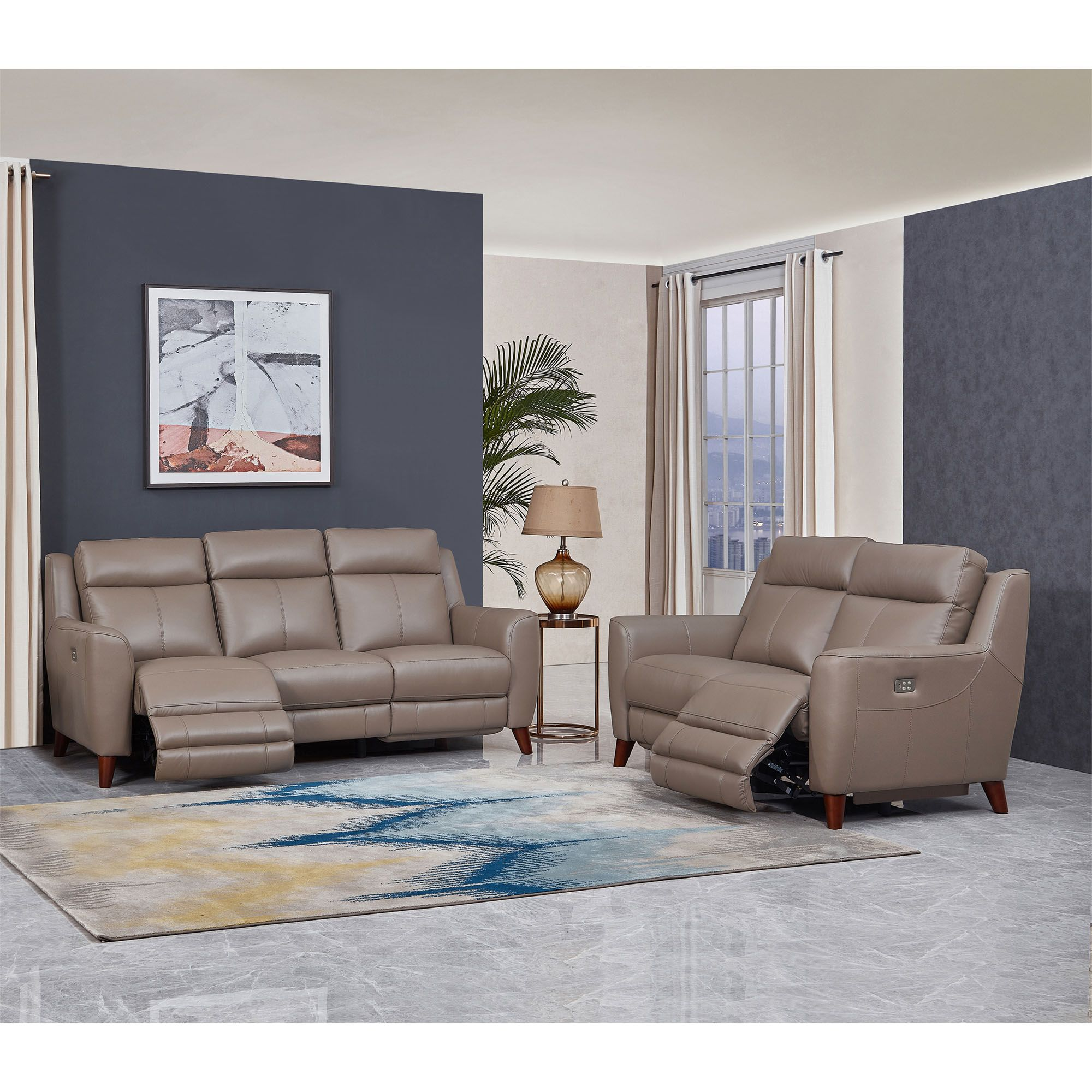 Bj S Wholesale Clubhydeline Furniture Crescent Bay Collection 2 Pc Leather Sofa And Love Dailymail