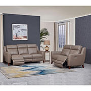 Hydeline Furniture Crescent Bay Collection 2-Pc. Leather Sofa and Love Seat Reclining Set