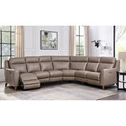 Hydeline Furniture Crescent Bay Collection Leather Sectional, 4 pieces