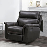 Abbyson Living Waltham Top Grain Leather Manual Recliner