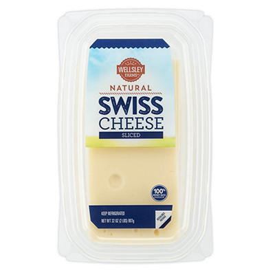 Wellsley Farms Sliced Swiss Cheese, 32 oz.