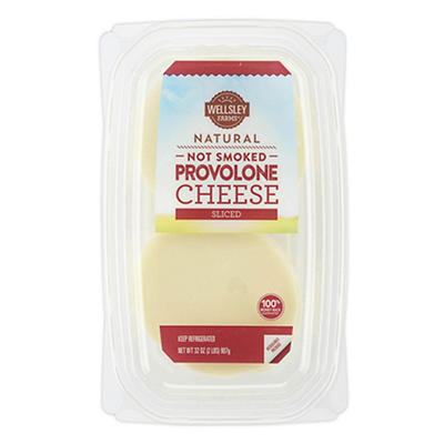 Wellsley Farms Sliced Provolone Cheese, 32 oz.