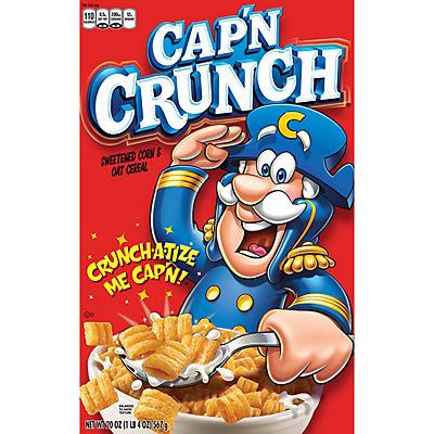 Cap'n Crunch Original Sweetened Corn & Oat Cereal, 2 pk./20 oz.