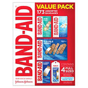 Band-Aid Variety Pack with Assorted Flexible Fabric Bandages, 173 ct.
