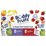 Buddy Fruits Blended Fruit Pouches Variety Pack, 24 ct.