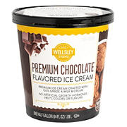 Wellsley Farms Premium Chocolate Ice Cream, 64 oz.