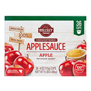 Wellsley Farms Unsweetened Applesauce Cups, 36 ct.
