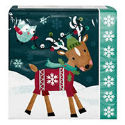 """Artstyle 'Holiday Friends' 6"""" 3-Ply Paper Napkins, 120 ct."""