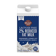 Wellsley Farms 2% Reduced Fat Lactose Free Milk, 2 ct 50oz